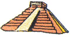 Mayan Ruins embroidery design