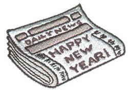 Newspaper embroidery design