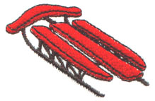 Sled embroidery design