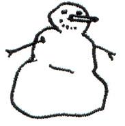 Snow Man embroidery design