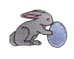 Egg and Bunny embroidery design