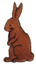 Brown Bunny embroidery design