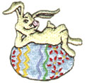 Bunny on Egg embroidery design