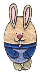 Bunny Shaped Egg embroidery design