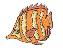 Butterlfy Fish embroidery design