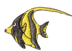 Bannerfish embroidery design