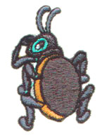 Beetle embroidery design