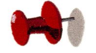 Push Pin embroidery design
