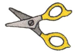 Scissors embroidery design