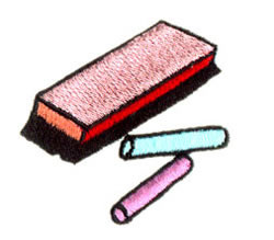 Chalk And Eraser embroidery design