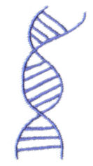 Double Helix embroidery design
