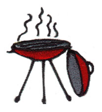 Grill embroidery design