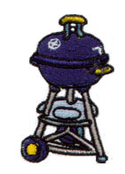 Weber Grill embroidery design