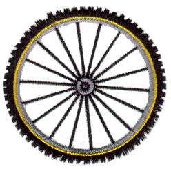 Bike Wheel embroidery design