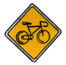 Bicycle Crossing embroidery design