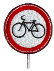 Bike Route embroidery design