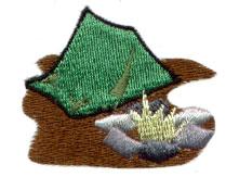 Campsite embroidery design
