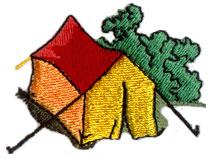 Pole Tent embroidery design