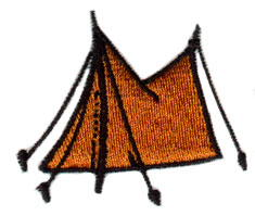 Pup Tent embroidery design