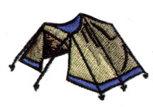 Backpack Tent embroidery design