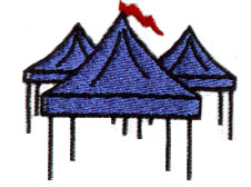 Canopy Tents embroidery design