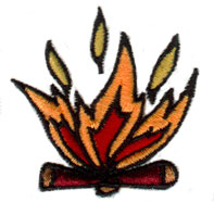 Campfire Pit embroidery design