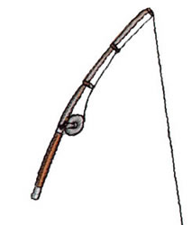 Fishing Rod embroidery design