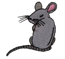 Rat embroidery design
