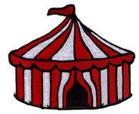 Big Top Tent embroidery design