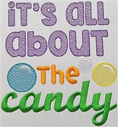 Mylar All About Candy embroidery design