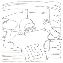 Football Pass Quilting Outline embroidery design
