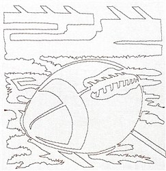 Football Quilting Outline embroidery design