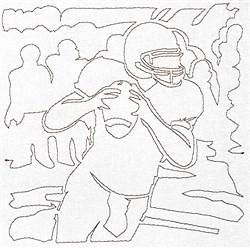 Quarterback Quilting Outline embroidery design
