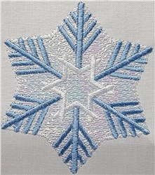 Mylar Snowflake 05 embroidery design