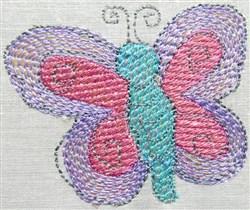 Mylar Retro Butterly embroidery design