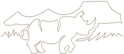 Serengeti Rhino Quilting Outline embroidery design