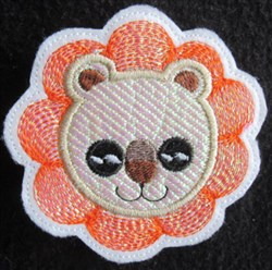 ITH Mylar Lion Barrette embroidery design