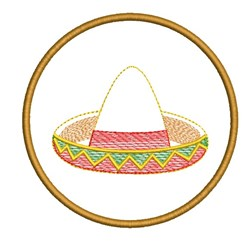 RETRO MYLAR MARACAS COASTER embroidery design