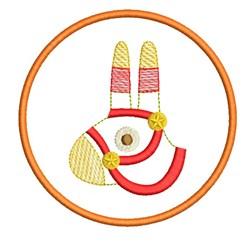 RETRO MYLAR LLAMA COASTER embroidery design