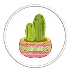 RETRO MYLAR CACTUS COASTER embroidery design