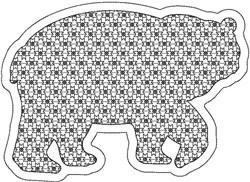 Reverse Applique Bear embroidery design