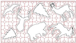 Large Rustic Placemat embroidery design
