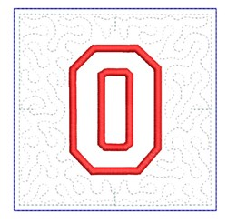 QUILT BLOCK 0 embroidery design