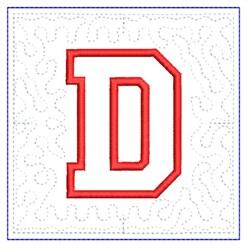 QUILT BLOCK D embroidery design