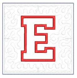 QUILT BLOCK E embroidery design