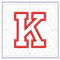 QUILT BLOCK K embroidery design