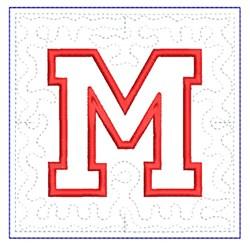 QUILT BLOCK M embroidery design