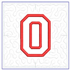 QUILT BLOCK O embroidery design