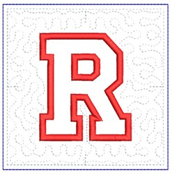 QUILT BLOCK R embroidery design