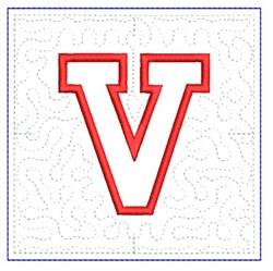 QUILT BLOCK V embroidery design